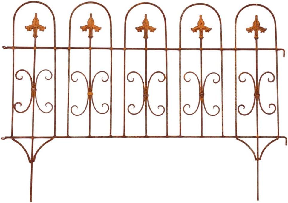 Valla Valla de jardín (Windsor pérgola metal hierro oxidado (58 cm de alto x 81 cm de largo: Amazon.es: Jardín