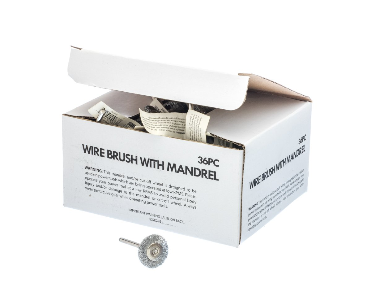 36 Piece Sona Enterprises SE SMS69 Stainless Steel Wire Wheel Brush