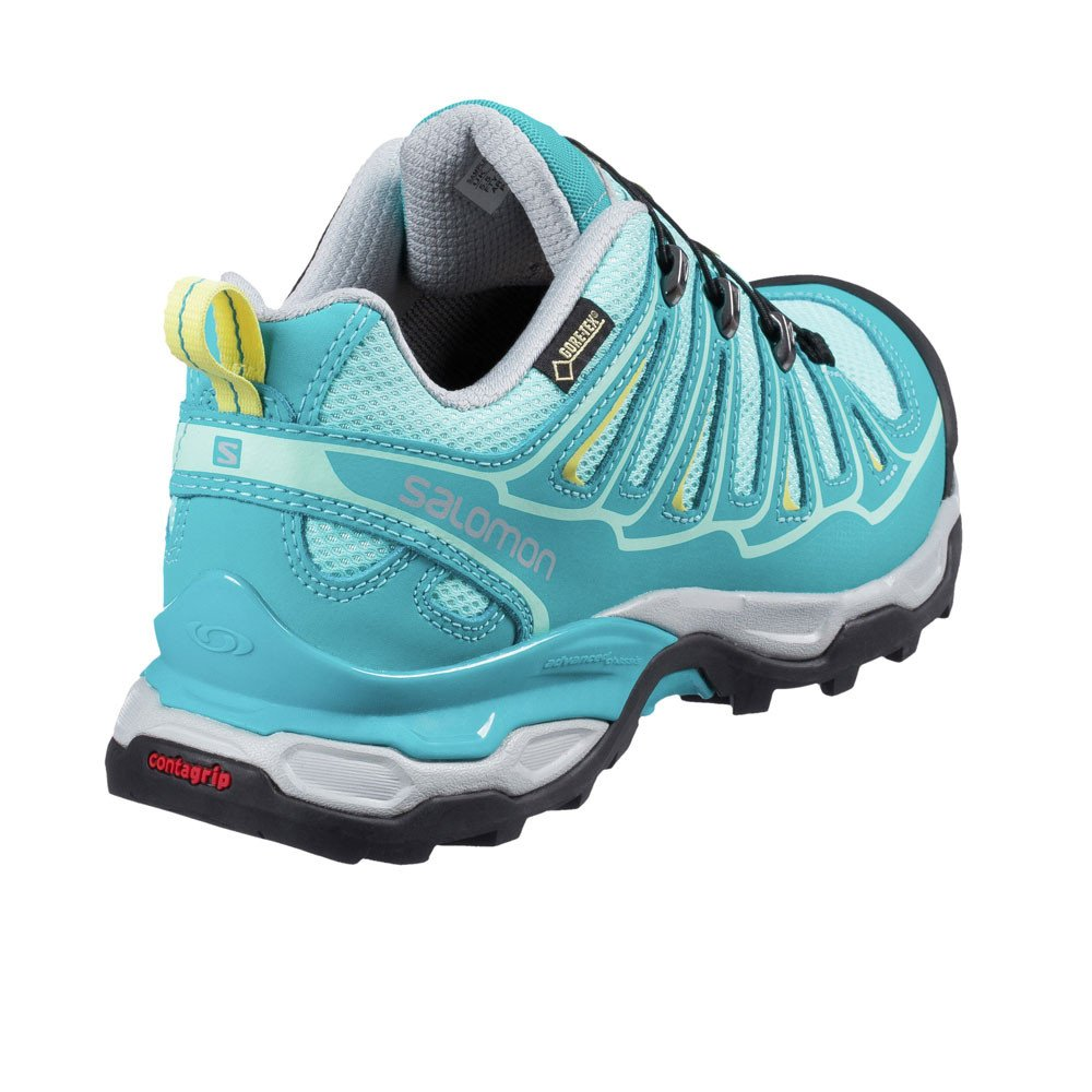 Salomon L38163800, Zapatillas de Senderismo para Mujer, Azul (Bubble Teal Blue F/Citrus-X), 42 2/3 EU: Amazon.es: Zapatos y complementos