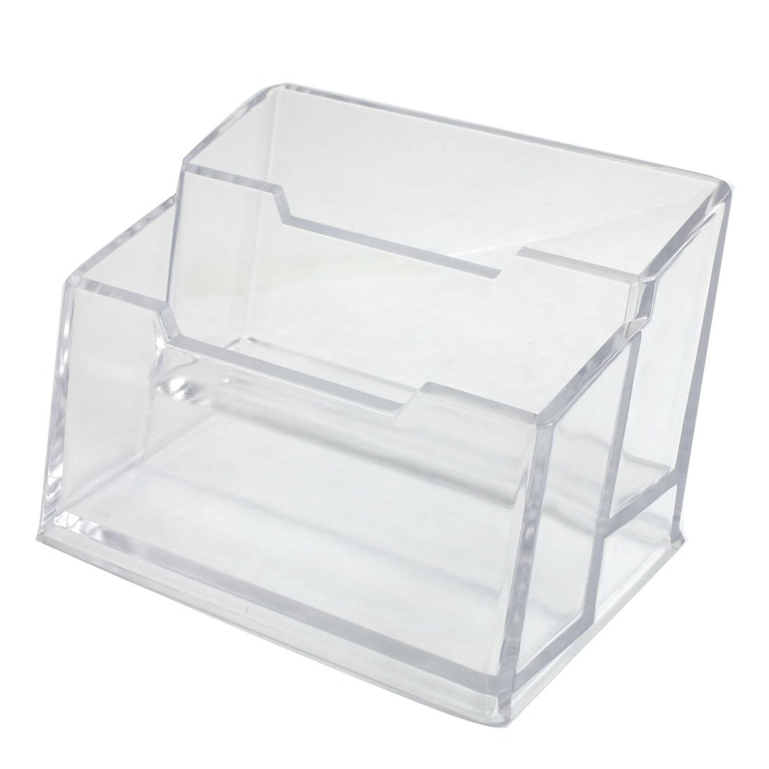30%OFF 2 Layers Clear Rectangle Hard Plastic Business Card Holder ...