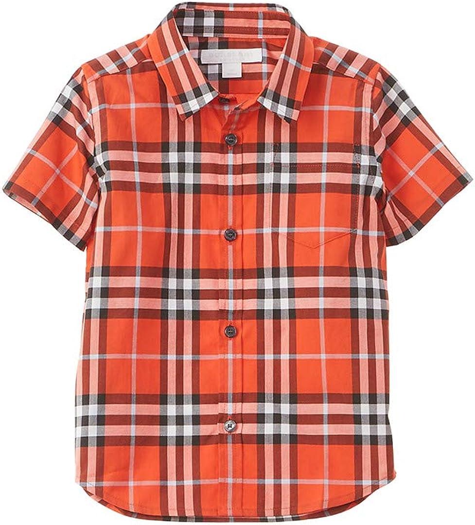 Burberry Camisa tejida a cuadros, 10Y, rojo: Amazon.es: Ropa y accesorios