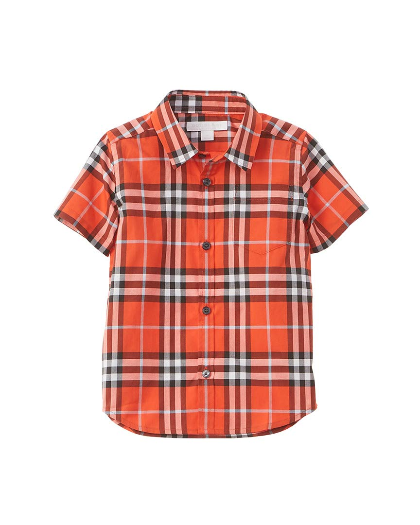 Burberry Boys Check Woven Shirt, 10Y, Red