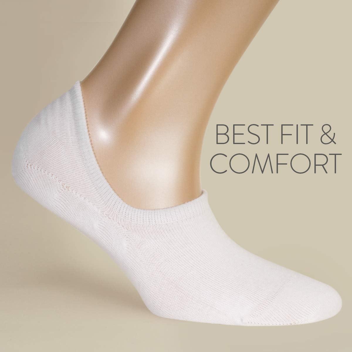 Salvapiedi scollati in cotone con massimo confort 5 paia ALL ABOUT SOCKS Calzini Invisibili Uomo /& Donna PREMIUM | Pedulini ANTISCIVOLO con sistema silicone grip