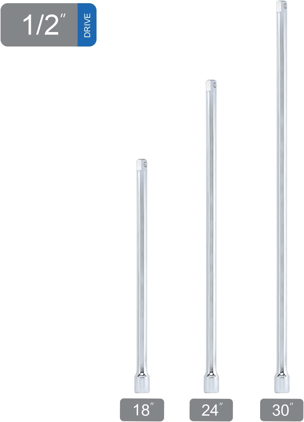 1//2 Inch Extension Sliding Bar Chrome Vanadium Steel Beautiful Appearance Easy to Use