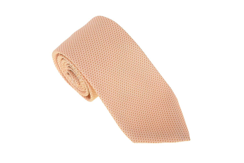 Kiton Napoli Mens Gold Textured Seven Fold Handmade Silk Necktie