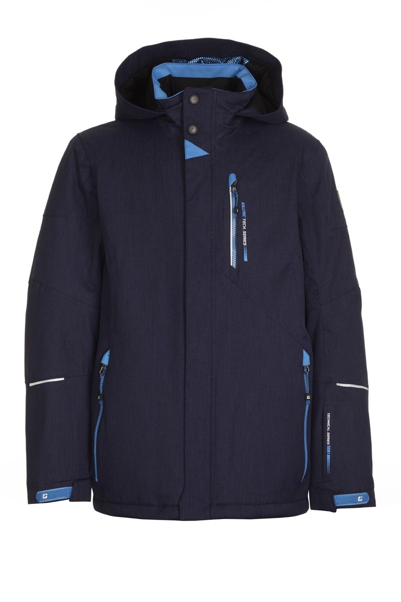 KILLTEC BOY'S ZOHIRO JR FUNCTIONAL JACKET W/HOOD, DARK NAVY, 10 by Killtec
