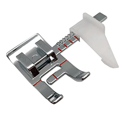 FQTANJU 1 Piece Even Feed Walking Sewing Machine Presser Foot with Quilt Guide for Brother Singer Janome Part Number #10449W