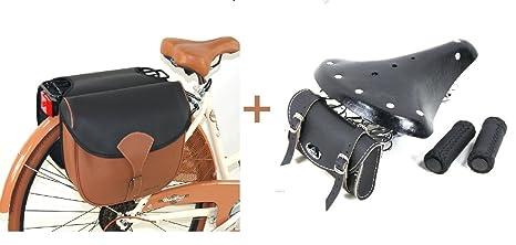 prodotti caldi scarpe a buon mercato vende Borsa ECO PELLE + Sella VINTAGE 3 Molle + Manopole EcoPelle ...