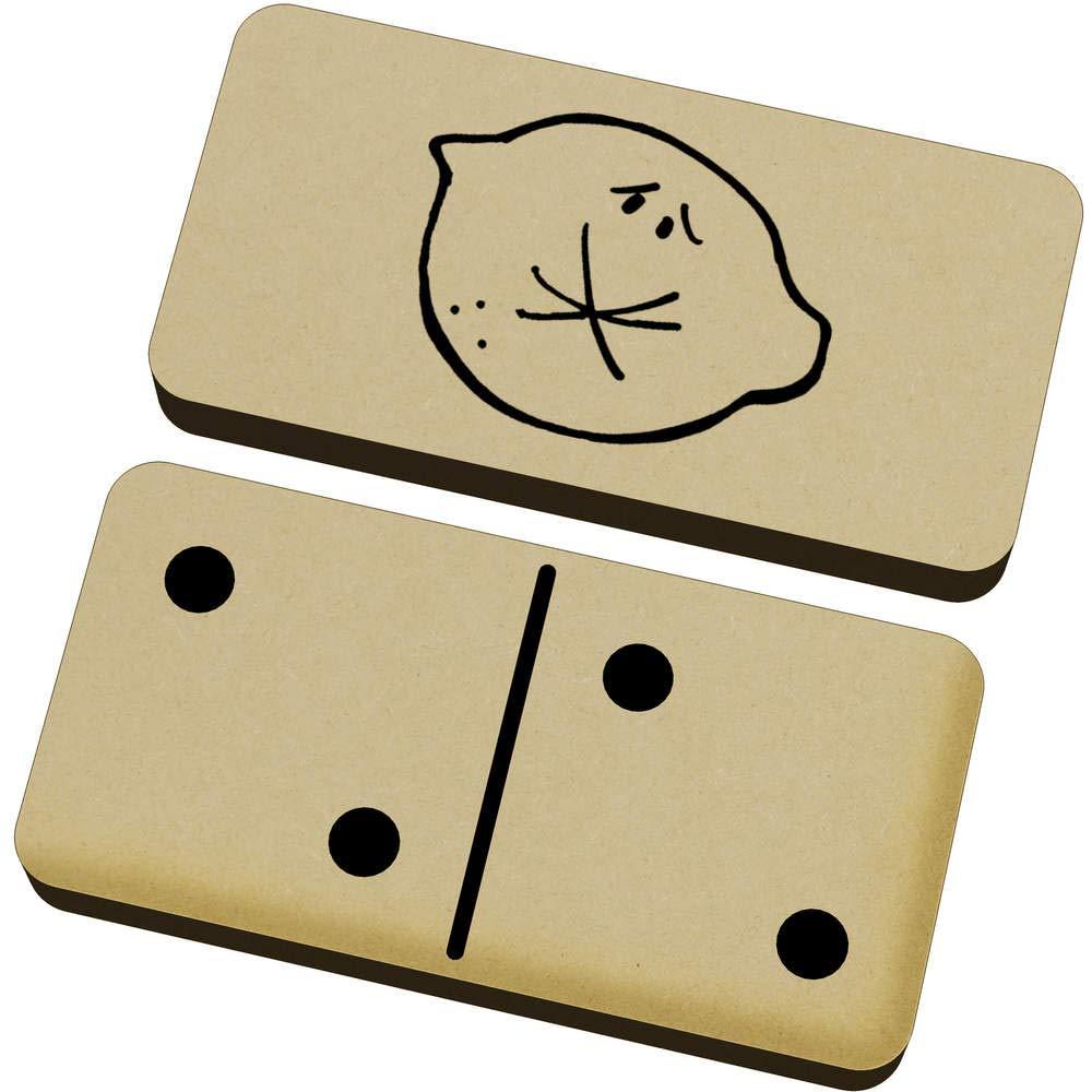 Azeeda 'Tight Faced Lemon' Domino Set & Box (DM00020605)