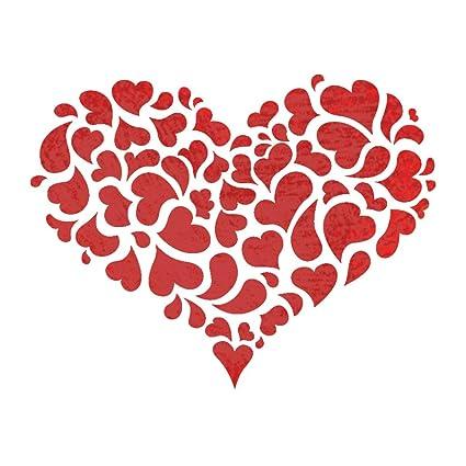 J BOUTIQUE plantillas corazón reutilizable plantilla para estarcir ...