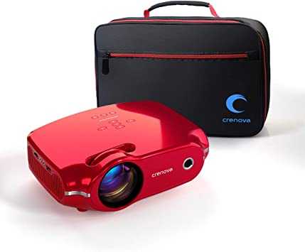 Crenova Video Projector, Multimedia Home Mini Movie Projector with Portable Bag, 3200 Lux, 50,000 Hrs LED Lamp, Work with PC, Fire Stick, HDMI, PS4, ...