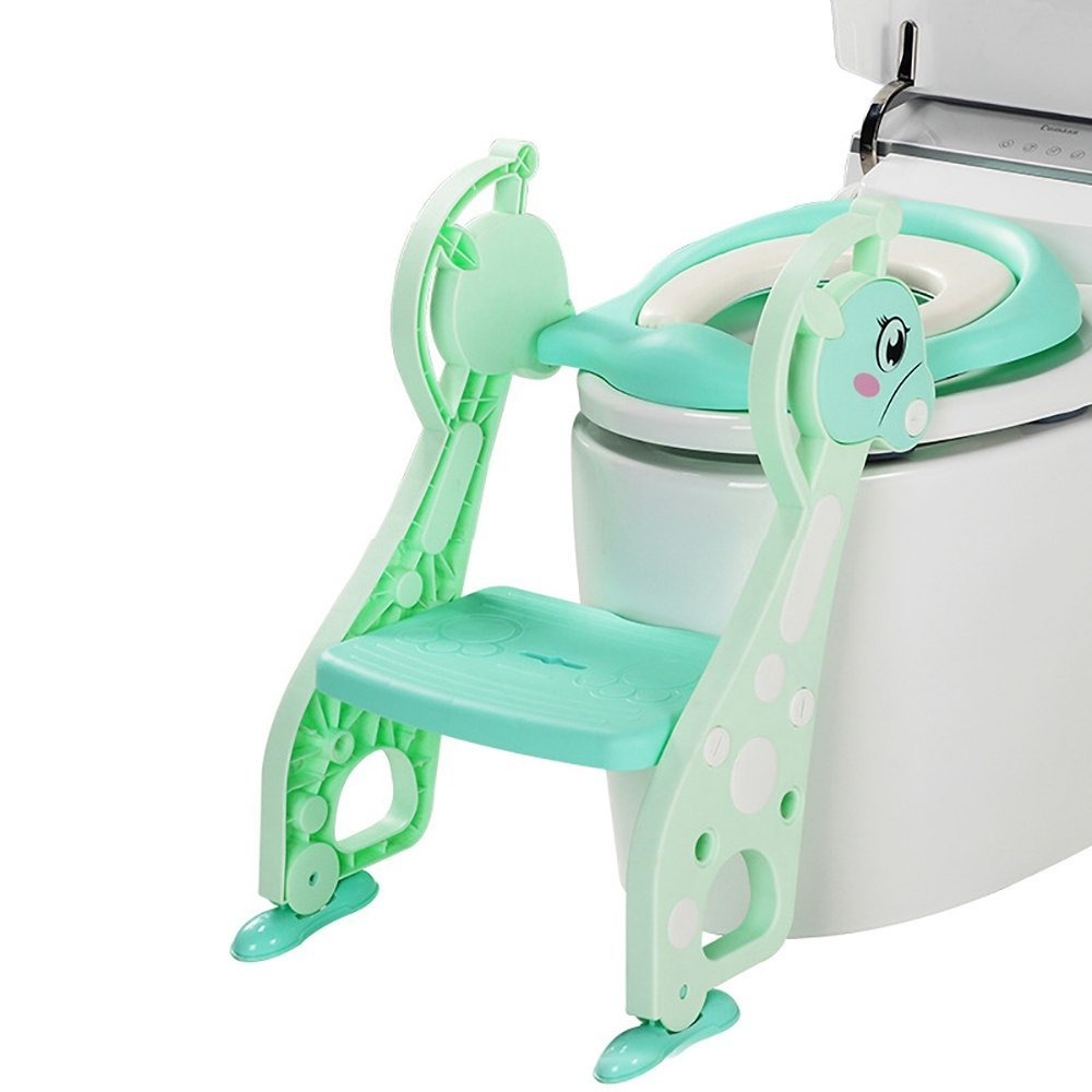 Potty Training Seat For Kids, Toddler Toilet Potty Chair With Non-slip Ladder For Kid And Baby Potty Training Seat Chair Perfectii