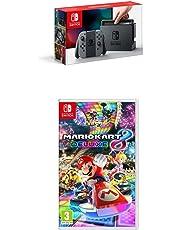 Nintendo Switch Grey with Mario Kart 8 Deluxe