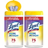 Amazon Price History for:Lysol Disinfecting Wipes - Dual Action - 2x75ct - Scrubbing Texture - Disinfectant - Cleaning - Sanitizing