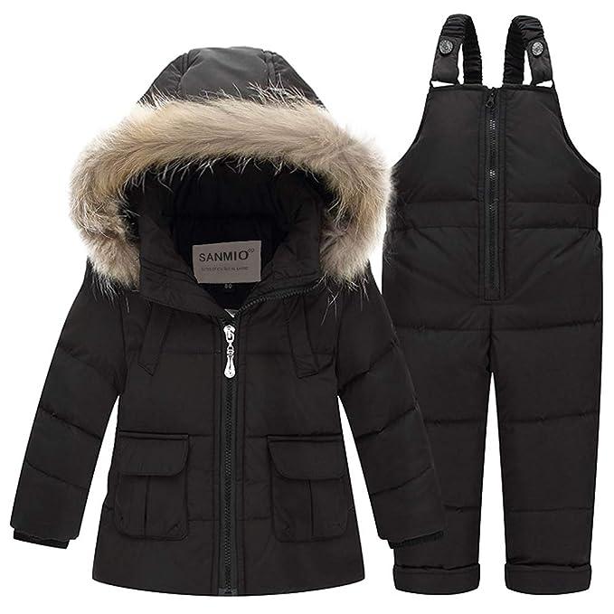 367f1ef28 SANMIO Kids Baby Toddler Winter Snowsuit Polka Dot Puffer Jacket ...