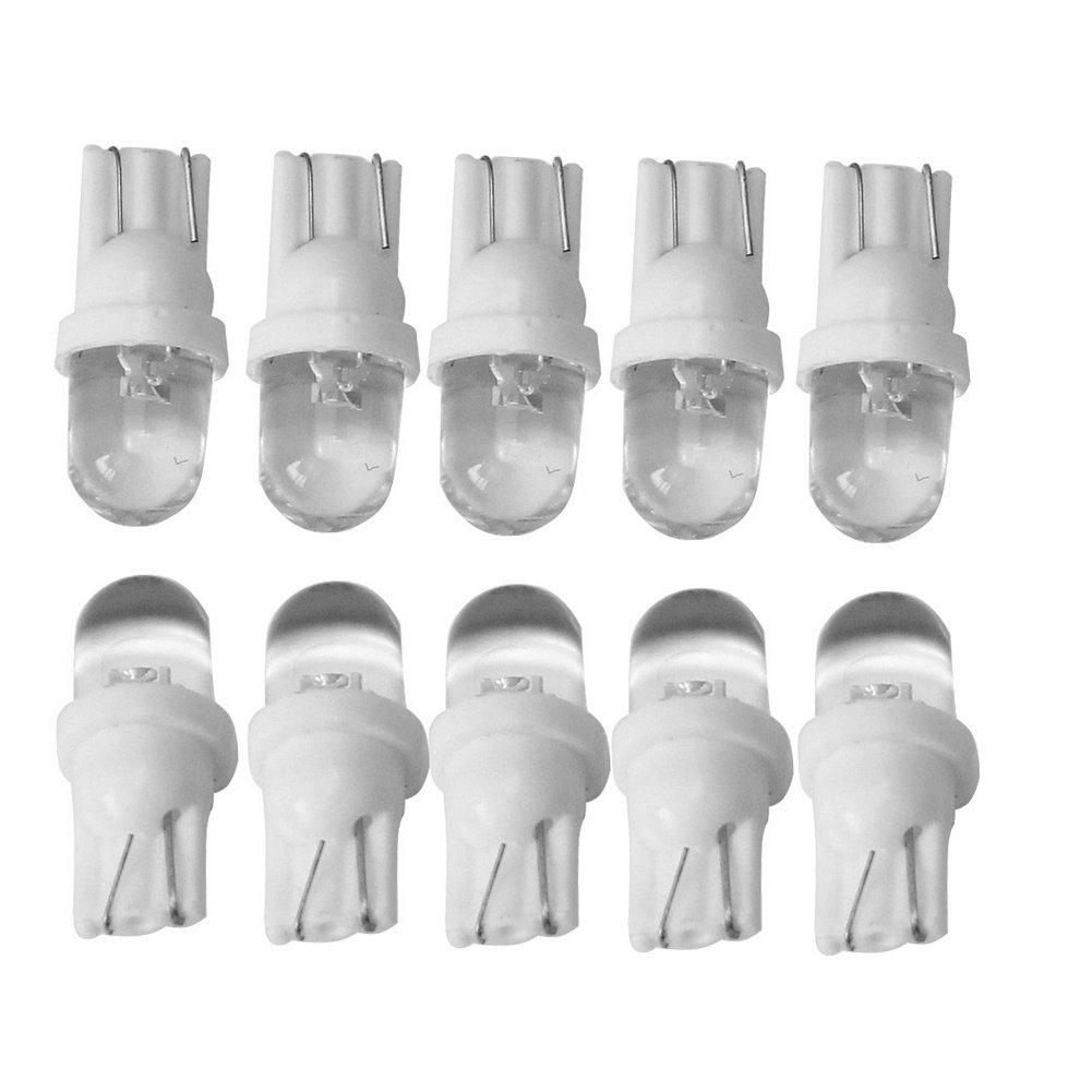 10/pcs Voiture T10/Blanc Int/érieur LED Dome ampoules c/ôt/é Wedge lumi/ère lampe de remplacement