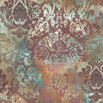 P S Vintage Queen Vlies Tapete 02496 62 Barock Braun Orange Amazon