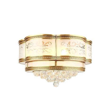 DFHHG® Lámparas de techo, estilo americano todo bronce ...