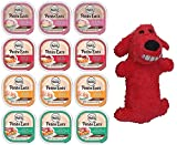 Nutro Petite Eats Adult Dog Food 4 Flavor Variety Bundle: (3) Chicken Entree, (3) Roast Turkey/Vegetable, (3) Lamb/Vegetable, (3) Beef/Potato Stew, 3.5 Oz Each (12 Total) – Plus Plush Loofa Dog!