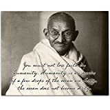 You Must Not Lose Faith in Humanity - Gandhi - 11x14 Unframed Art Print - Great Home Decor