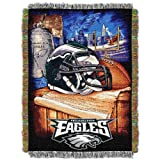 """Officially Licensed NFL Philadelphia Eagles Home Field Advantage Woven Tapestry Throw Blanket, 48"""" x 60"""""""