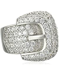 Sterling Silver, Cubic Zirconia Award Winning Buckle Ring, 2.70 ct. tw.