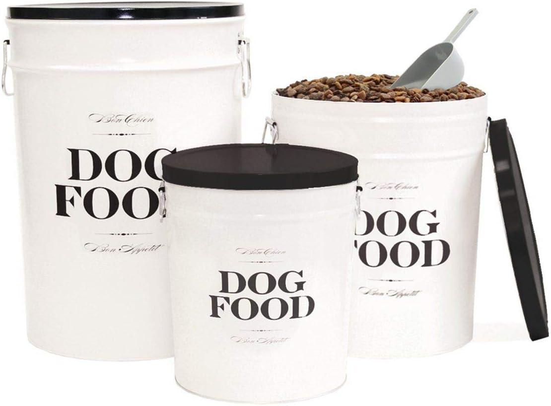 Harry Barker Dog Food Storage Canister - Bon Chien - Black - 22 lb