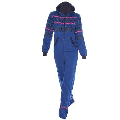 f25d306a3abd Mens Unisex Womens Aztec Print Plus Size Onesie Plain Printed Hooded Zip Up Onesie  Jumpsuit Plus Size S M L XL Sizes UK 8 10 12 14 16  Amazon.co.uk  ...