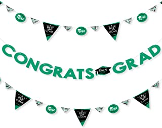 product image for Big Dot of Happiness Green Grad - Best is Yet to Come - 2021 Green Graduation Party Letter Banner Decoration - 36 Banner Cutouts and Congrats Grad Banner Letters