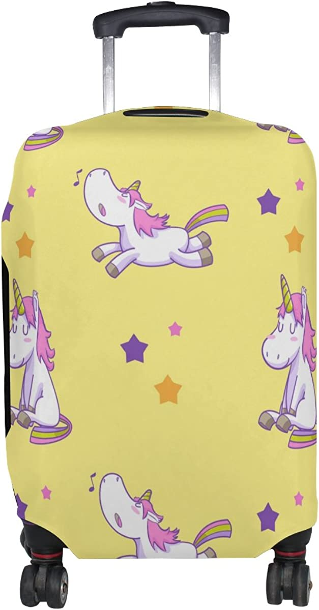 GIOVANIOR Unicorn Rainbow Stars Luggage Cover Suitcase Protector Carry On Covers