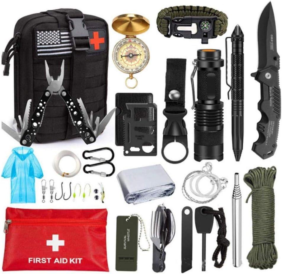 Suministros al aire libre, kit de supervivencia, caja de primeros auxilios, primeros auxilios, kit de primeros auxilios, viaje, kit de primeros auxilios para camping, coche, emergencia y vacaciones: Amazon.es: Bricolaje y herramientas