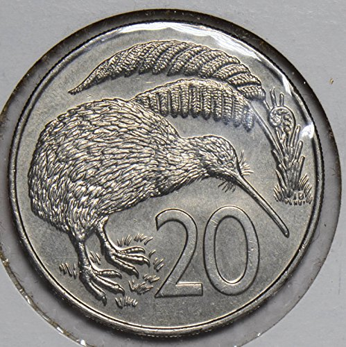 1983 NZ JU0504 New Zealand 20 Cents vintage bird animal DE PO-01