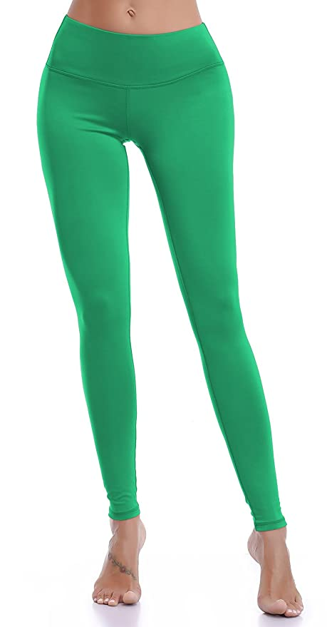 f66845cdde Amazon.com: Aenlley Womens Athletic Yoga Pants with Hidden Pocket Workout  Gym Spandex Tights Leggings Color Green Size S: Clothing