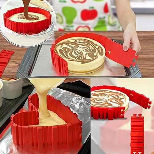 1 lot 4Pcs/Set Baked cake Magic Snake Cake Mold Diy Baking Square Rectangular Heart Shape Round Pastry Kitchen Household Life Tools -