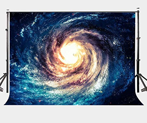 Lylycty 7×5ft Polyester Galaxy Backdrop Spiral Galaxy Universe Nebula Beautiful Picture Photography Background Studio Props LYGE427