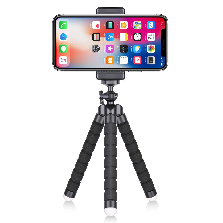 新到着 Neewer ポータブルフレキシブル携帯電話三脚 1/4インチねじマウントと携帯電話クリップ付き Bluetoothリモコン iPhone サムスン Huawei スマートフォンとデジタル一眼レフカメラ用 写真 ビデオ ポートレート 写真撮影用   B07DNVGJB6, クローバーマート 09148314