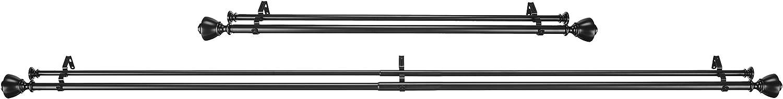 Bastone da tenda doppio da 2,54 cm con terminali decorativi a forma di tappo da 0,9 a 1,83 m Basics Bronzo