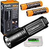 FENIX TK35 Ultimate 2018 Edition 3200 Lumen LED USB rechargeable Tactical Flashlight /w 2 X Fenix 3500mAh rechargeable batteries EdisonBright battery carry case bundle