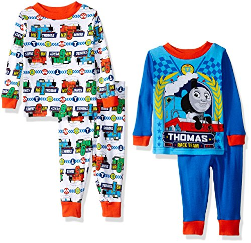 Thomas the Train Boys' 4-Piece Pajama Set, Blue/White,  1...