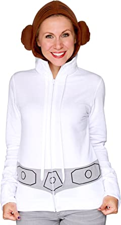Disfraz de princesa Leia sudadera con capucha para adultos por su ...