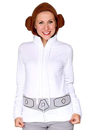 Amazon Com Princess Leia Costume Hoodie For Adults By Her Universe