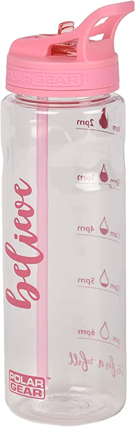 Botella de agua poli/éster tritan Polar Gear 7.2 x 7.2 x 24centimeters tama/ño 750 ml color frutas del bosque
