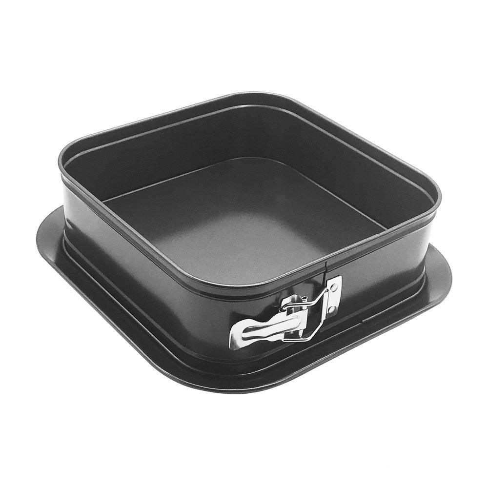 HOMOW Nonstick Heavy Duty Bakeware Springform Pan, Leakproof Cake Pan, Cheesecakes Pan (9'' Square Pan)