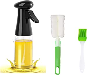 Oil Sprayer for Cooking, Oil Mister Oil Spritzer with Oil Spray Bottle Brush Basting Brush for Air Fryer Cooking Making Salad Baking Roasting Grilling