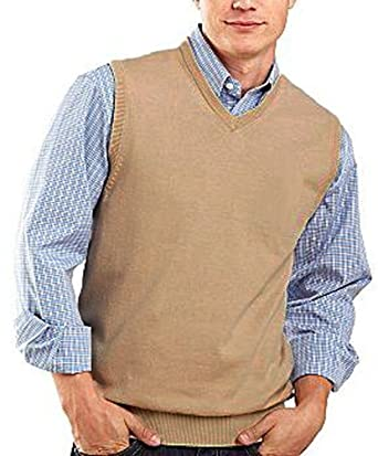 Edwards Men's Fine Gauge Wool Blend V-Neck Sweater Vest - XL ...