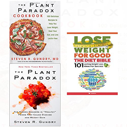 Book cover from Plant paradox,cookbook [hardcover] and lose weight for good diet bible 3 books collection set by Dr. Steven R Gundry M.D.