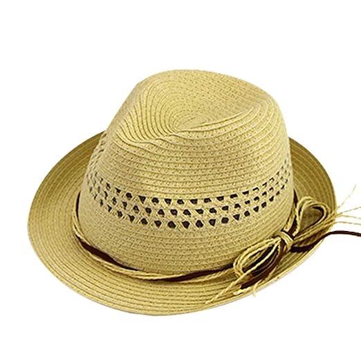 ZXioHat-ca Gorra de Playa Sombrero de Paja de Verano Sombrero de ...