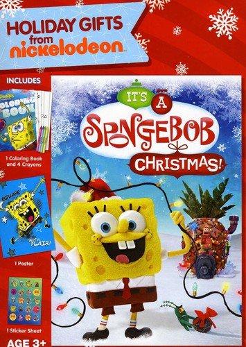DVD : Spongebob Squarepants: It's A Spongebob Squarepants Christmas! (Gift Set, Widescreen, Sensormatic)