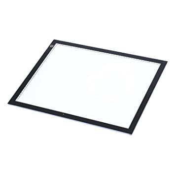 HOMCOM - Tabla Luminosa Pastillas de Dibujo con Luces LED 5 W 47 × 37 × 0.8 cm Blanco: Amazon.es: Hogar
