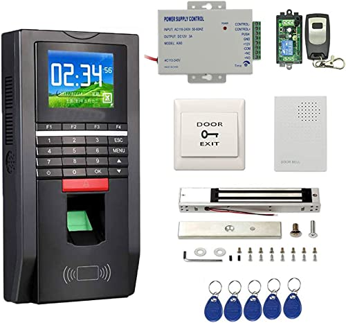 Complete Biometric Kits Fingerprint RFID Access Control System 600Lbs Magnetic Lock TCP IP Time Attandance